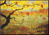 Apple Tree with Red Fruit, c.1902 Mounted Print by Paul Ranson