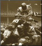 Over The Top: The Redskins vs. The Giants, c.1960 Mounted Print by Robert Riger
