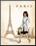 Paris Mounted Print by Andrea Laliberte