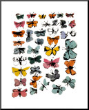 Andy Warhol - Motýli, 1955 Reprodukce aplikovaná na dřevěnou desku