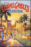 Visit Coral Gables, Florida Mounted Print by Kerne Erickson