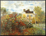 The Artist's Garden in Argenteuil Mounted Print by Claude Monet