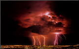 Lightning Mounted Print by Ralph Wetmore