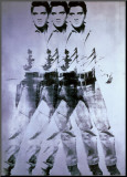 Triple Elvis, 1963 Mounted Print by Andy Warhol