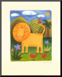 Leo the Lion Mounted Print by Sophie Harding