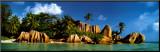 Insel La Digue, Seychellen, Indischer Ozean Druck aufgezogen auf Holzplatte von K.H. Hanel
