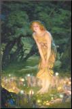 Midzomer, de zonnewende, ca.1908 Kunstdruk geperst op hout van Edward Robert Hughes