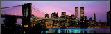 Brooklyn Bridge and New York City Skyline Mounted Print by Richard Sisk