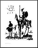 Don Quixote, c.1955 Mounted Print by Pablo Picasso