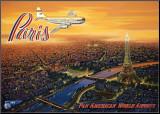 Över Paris Monterat tryck av Kerne Erickson