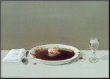 Pig in Soup Mounted Print by Michael Sowa