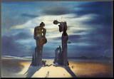 Arkeologisk erindring av Millet Angelus, 1935 Montert trykk av Salvador Dalí