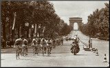 1975 Tour Finish on the Champs Elysees Mounted Print