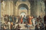 A escola de Atenas, cerca de 1511, detalhe Impressão montada por  Raphael