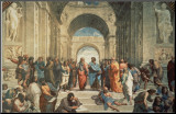 The School of Athens, c.1511 (detail) Mounted Print by  Raphael