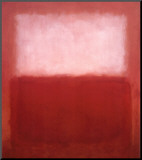 White over Red Mounted Print by Mark Rothko
