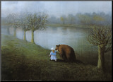 Bear Mounted Print by Michael Sowa