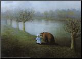 Bear Lámina montada en tabla por Michael Sowa