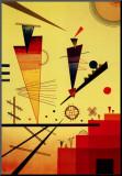 Radosna struktura Umocowany wydruk autor Wassily Kandinsky