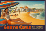 Visit Santa Cruz Mounted Print by Kerne Erickson