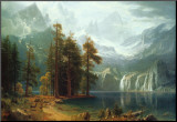 Sierra Nevada in California Mounted Print by Albert Bierstadt