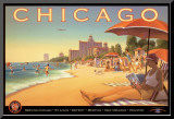 Chicago and Southern Air Mounted Print by Kerne Erickson