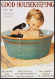 Good Housekeeping (Zeitschrift) Druck aufgezogen auf Holzplatte