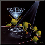 Even Dirtier Martini Mounted Print by Michael Godard