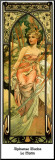 Morning Mounted Print by Alphonse Mucha
