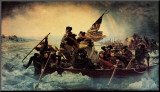 Washington Crossing the Delaware, c.1851 Mounted Print by Emanuel Leutze
