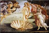 De geboorte van Venus, ca.1485 Kunstdruk geperst op hout van Sandro Botticelli