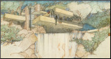 Falling Water, Mill Run, Pennsylvania Mounted Print by Frank Lloyd Wright