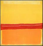 Nummer 5 Kunstdruk geperst op hout van Mark Rothko