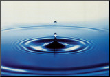 Action: Drop of Water Mounted Print