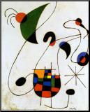 Cantante melancólico Lámina montada en tabla por Joan Miró