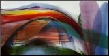 Paul Jenkins - Neobyčejné vlny vbezvětří, 1977 Reprodukce aplikovaná na dřevěnou desku