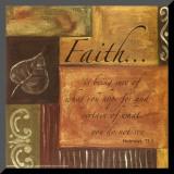 Words to Live By: Faith Opspændt tryk af Debbie DeWitt