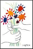 Blumenstrauß in der Hand Aufgezogener Druck von Pablo Picasso