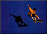 No Limits Skateboarder Mounted Print