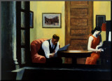 Room in New York Mounted Print by Edward Hopper