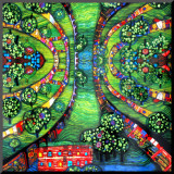 Green Town, c.1978 Mounted Print by Friedensreich Hundertwasser