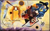 Gelb, rot und blau, ca. 1925 Druck aufgezogen auf Holzplatte von Wassily Kandinsky