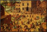 Children's Games Mounted Print by Pieter Bruegel the Elder