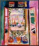 Henri Matisse - Otevřené okno vCollioure, 1905 (La fenêtre ouverte, Collioure, 1905) Reprodukce aplikovaná na dřevěnou desku