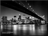 New York, New York, Manhattan Skyline Mounted Print by Henri Silberman