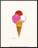 Ice Cream Dessert, c.1959 (Red, Pink and White) Mounted Print by Andy Warhol