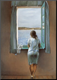 Muchacha en la ventana Lámina montada en tabla por Salvador Dalí