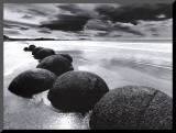 Boulders on the Beach Mounted Print