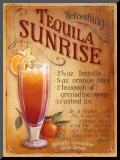 Tequila Sunrise Mounted Print by Lisa Audit