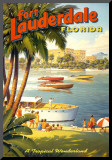 Fort Lauderdale, Florida Mounted Print by Kerne Erickson